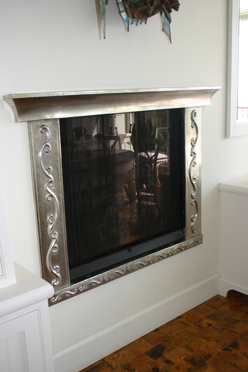 Copper Fireplace Mantel And Surround